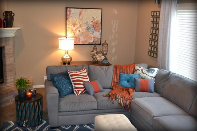decoracion de salas color naranja (6)