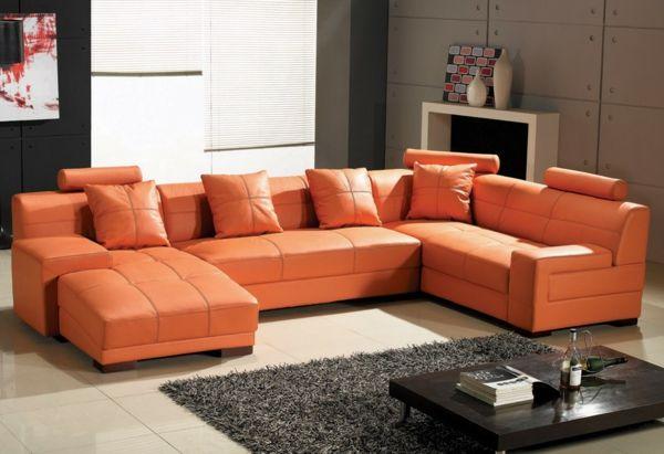 decoracion de salas color naranja (7)