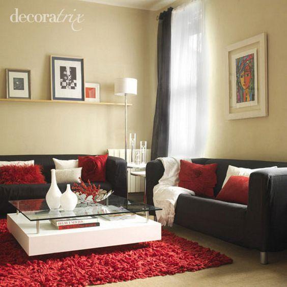 decoracion de salas color rojo