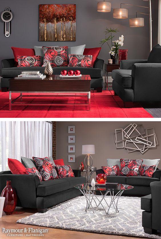 Decoracion de salas color rojo decoracion de interiores for Decoracion casa rojo