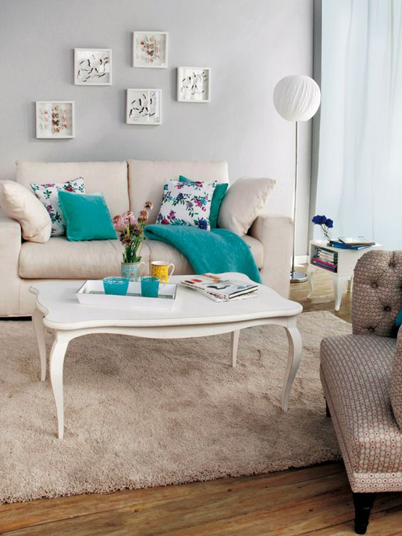 decoracion de salas color turquesa