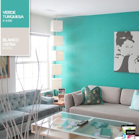decoracion de salas color turquesa (3)