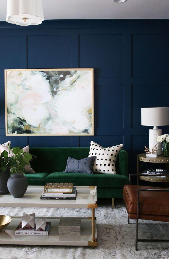 decoracion de salas color verde