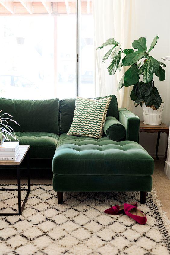 decoracion de salas color verde (3)