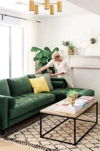 decoracion de salas color verde (4)