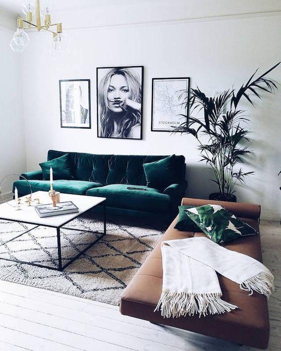 decoracion de salas color verde (5)