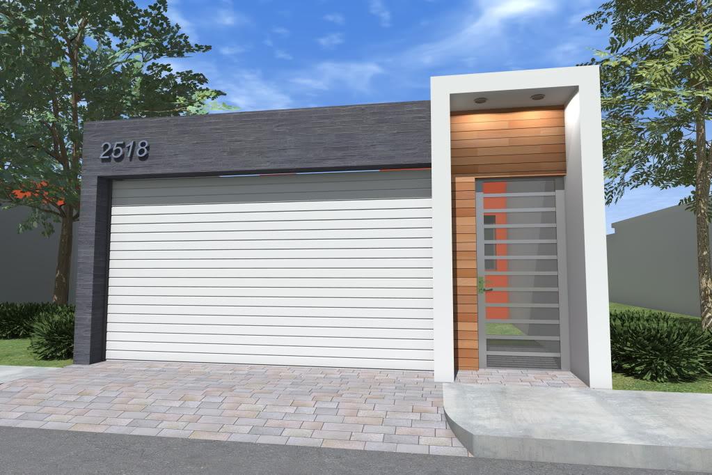 Diseno de cocheras casas de interes social 9 for Fachada de casas modernas con porton