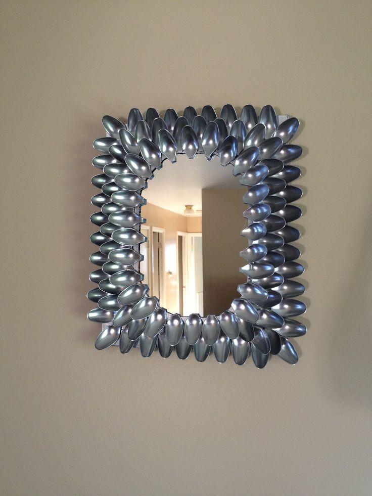 Diy decoracion de espejos con cucharas decoracion de - Espejos de decoracion ...