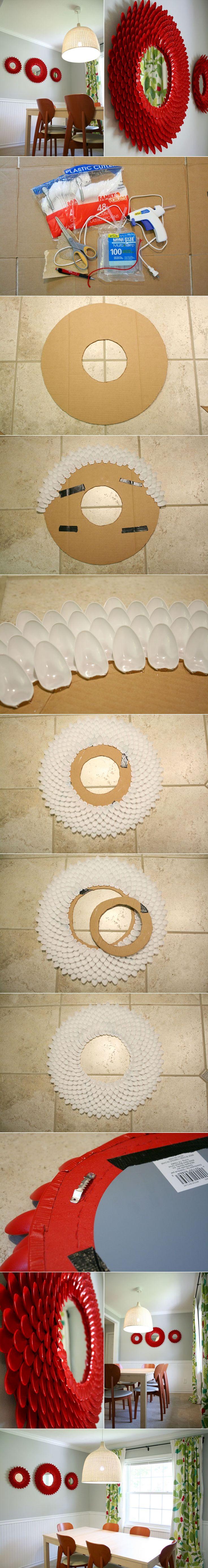 Diy decoracion de espejos con cucharas 6 decoracion de for Decoracion de espejo con cucharas