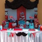 Fiesta de Baby Shower o Bautizo tematica de Bigotes