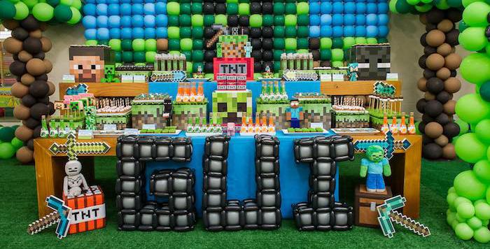 Ideas Para Fiestas De MineCraft Decoracion Interiores