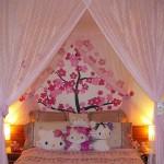 Ideas decoración de recamara de Hello Kitty