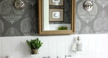 Ideas para decoracion de baños con papel tapiz