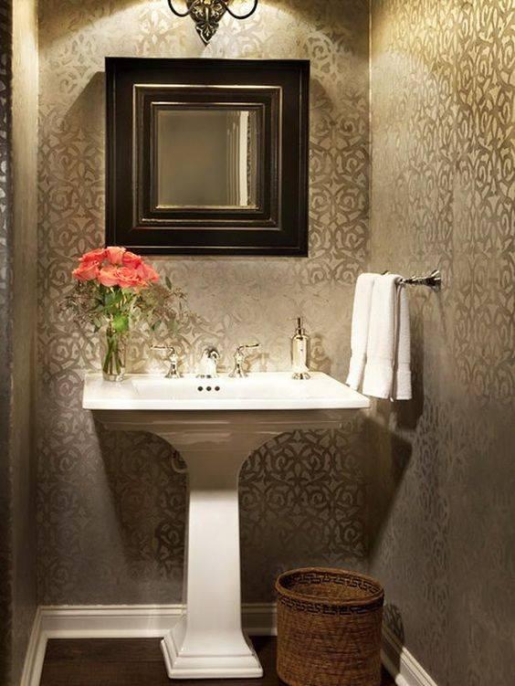 Decoracion De Baños Feos:ideas-para-decoracion-de-banos-con-papel-tapiz-3jpg