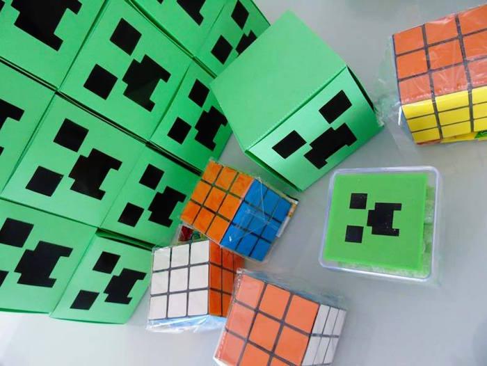 ideas para mesa de postres minecraft