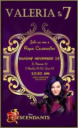 invitaciones de descendientes 2