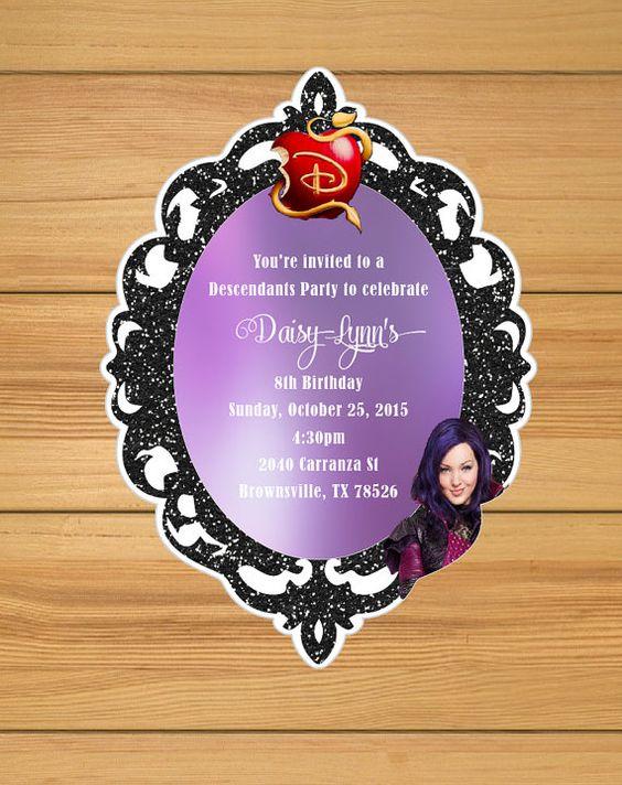 invitaciones de descendientes