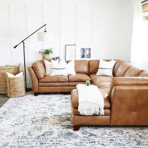 salas modernas 2018 color camel