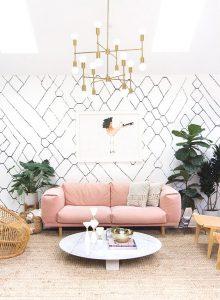 Texturas en paredes de salas modernas 2018