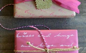 DIY ideas para empacar regalos este dan Valentin