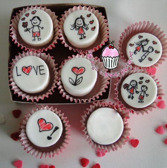 Cupcakes Bollitos Quequitos De San Valentin 14 De