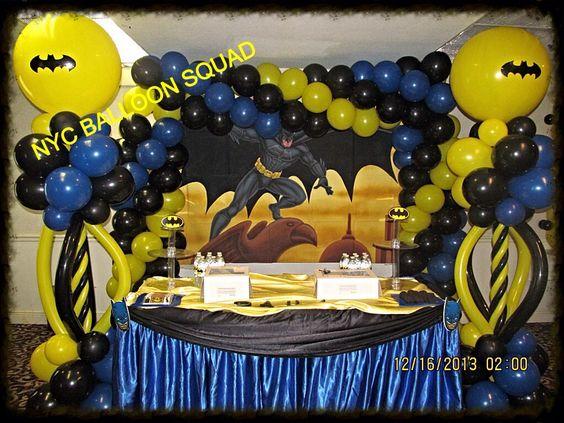Decoracion Con Globo Fiesta Batman Como Organizar La Casa
