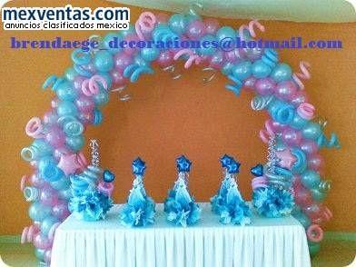 decoracion con globos fiesta cinderela 11 Decoracion de