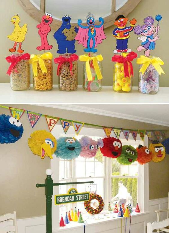 ideas para decorar fiesta de plaza sesamo