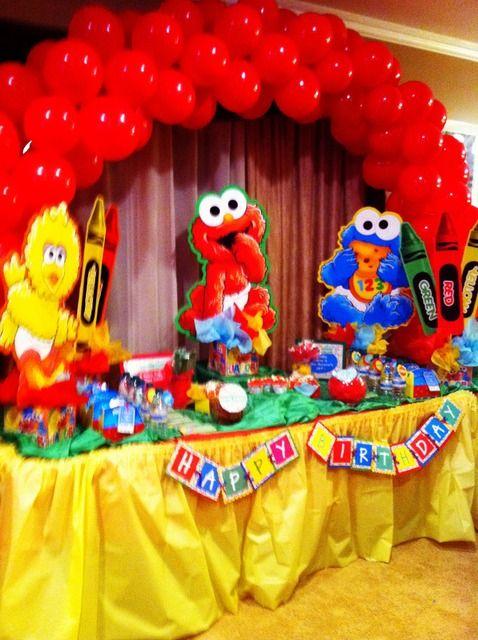 Ideas para decorar fiesta de plaza sesamo decoracion de - Ideas para fiestas en casa ...