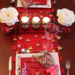 Ideas para poner mesas romaticas de San Valentin