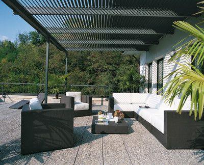 Pergolas de acero decoracion de interiores fachadas para for Pergolas de acero