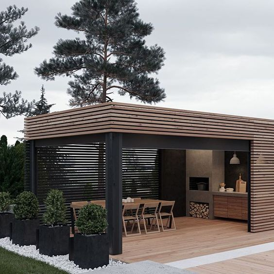 40 Modern Pergola Designs And Outdoor Kitchen Ideas: Planos Y Fotos De Pergolas 2019