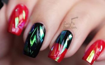 Tendencias en uñas de cristal quebrado