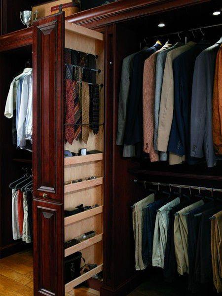 como organizar closet de hombre