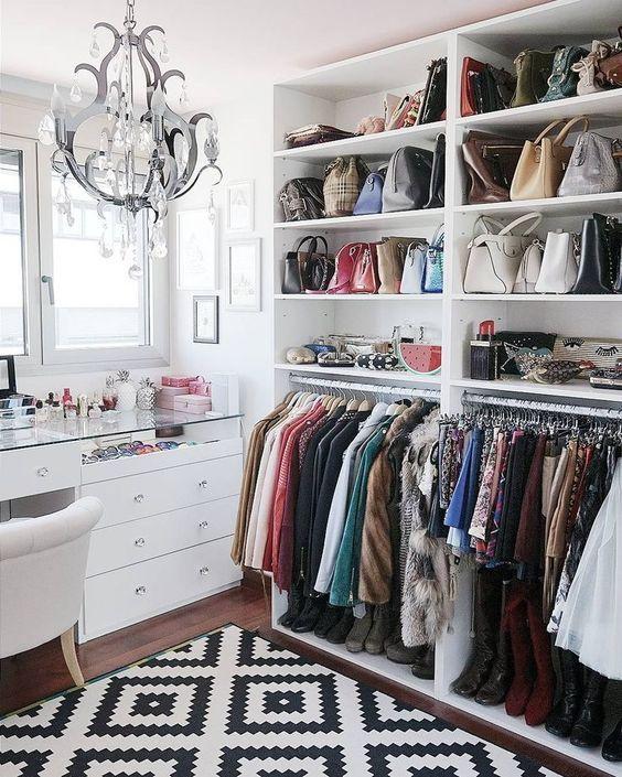 como organizar closet de mujer
