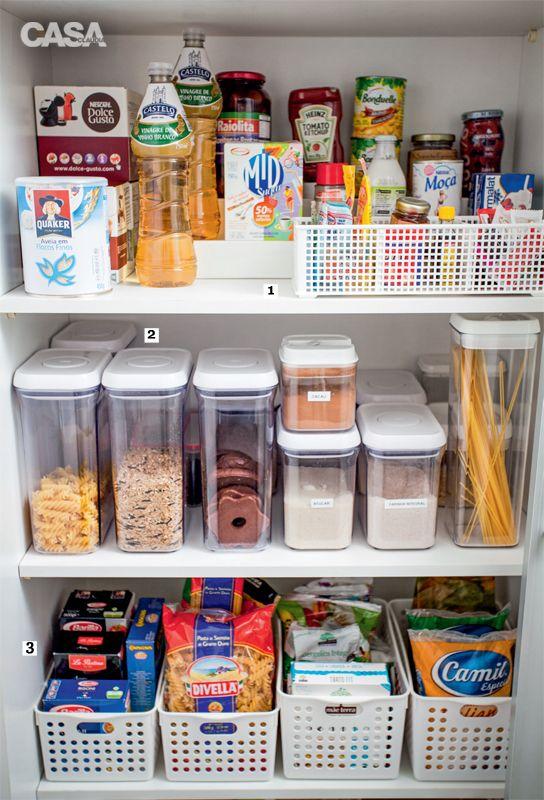 Como organizar la despensa 13 decoracion de interiores - Cestas para armarios ...