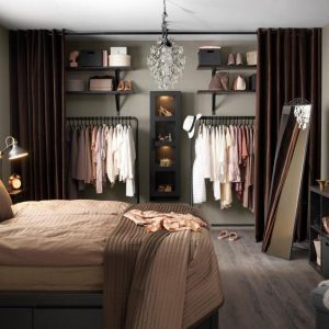 como organizar un closet sin puertas