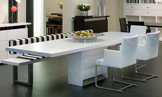 Comedores con bancas 12 decoracion de interiores for Comedores minimalistas