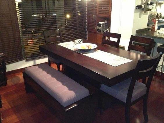 Comedores con bancas 8 decoracion de interiores for Comedores para casa