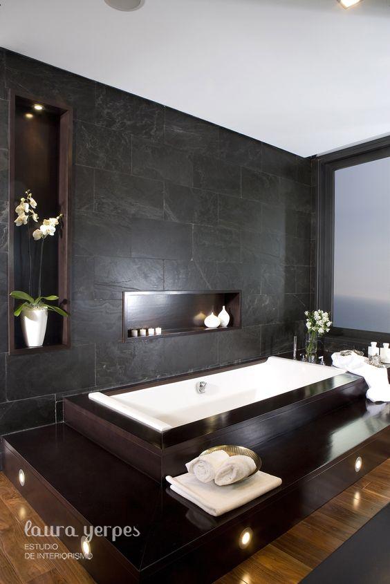 Baños con tina de cemento ~ dikidu.com