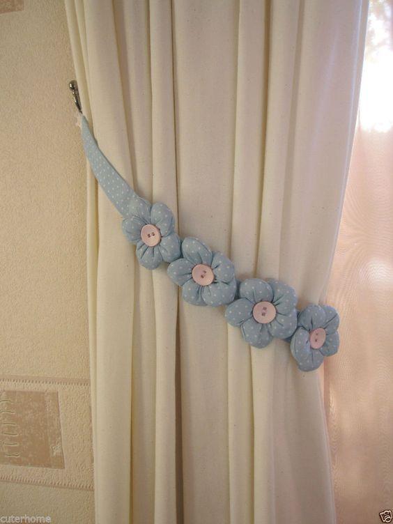 Dise os de sujetadores para cortinas 1 decoracion de for Como hacer cortinas para salon