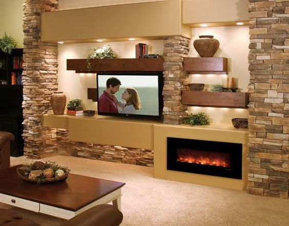 Ideas de chimeneas modernas 20 Decoracion de interiores Fachadas