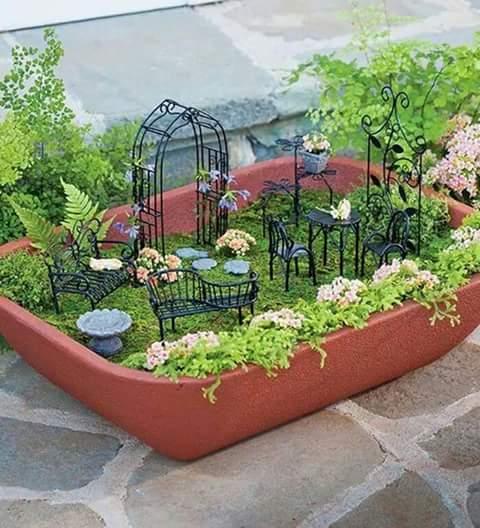 Ideas de jardines miniatura 16 decoracion de for Jardines en miniatura