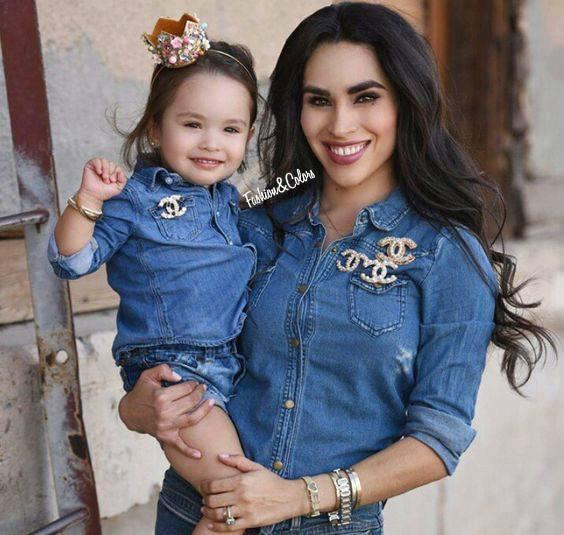 Vestidos de jeans mama e hija