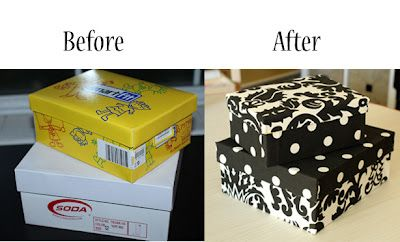 Ideas para reciclar cajas de zapatos decoracion de for Reuse shoe box ideas