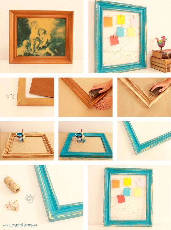 Ideas para reutilizar cuadros viejos 4 Decoracion de interiores