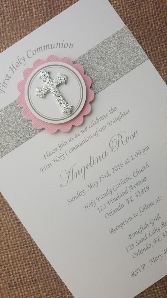 Invitaciones primera comunion