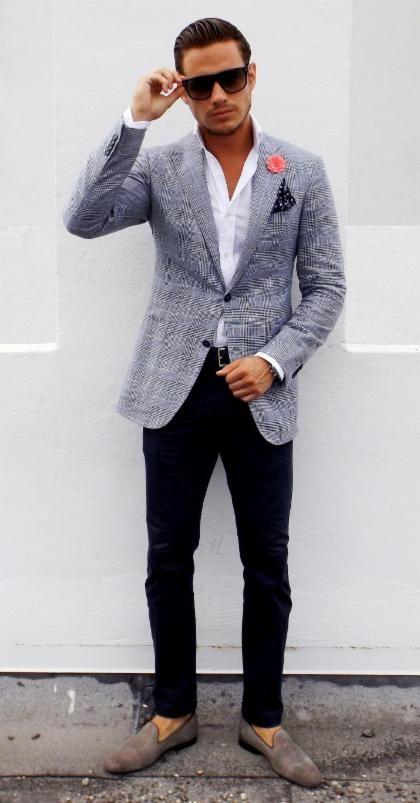 Outfits con blazer para hombre ideal para trabajo