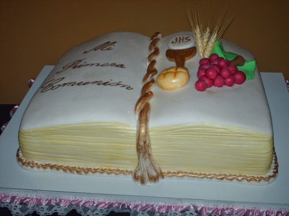 pasteles de primera comunion decoracion