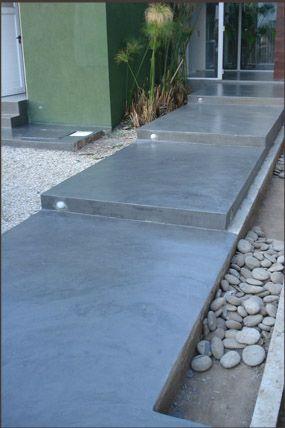 Pisos de concreto para exteriores 10 decoracion de interiores fachadas para casas como - Suelo de microcemento pulido ...